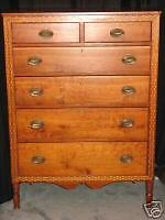 Antique Cherry Country Sheraton Chest Drawers America