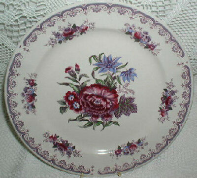 Colonial Rose 19th Century English Reproduction Dinner Plate