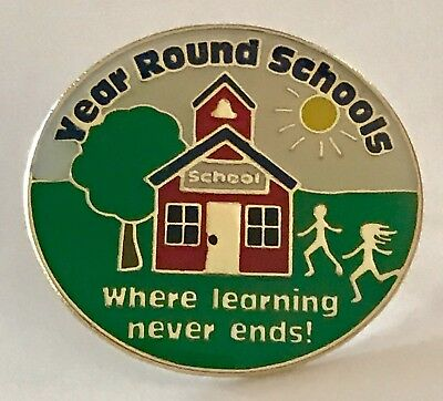"""""""Year Round Schools"""" Lapel Pins-Wholesale lot 25-NEW!"""
