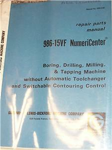 Giddings/Lewis 986-15VF NumeriCenter Repair Part Manual