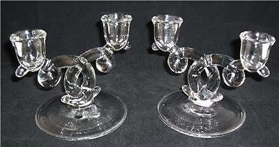 Heisey LARIAT - Pair (2) Double Candle Sticks Loop Design