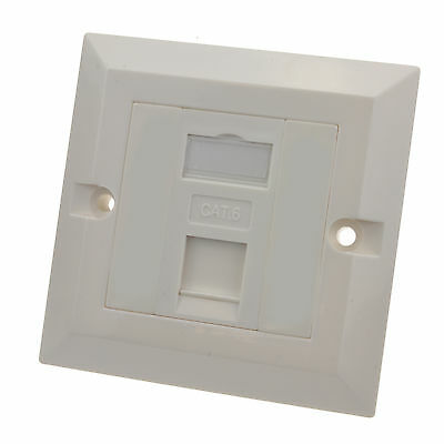 CAT6 Single Socket RJ45 Wall Face Plate Faceplate Cat 6