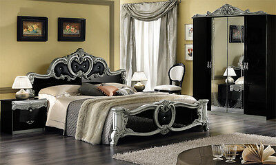 komplett schlafzimmer barocco stilm bel aus italien hochglanz klassik exklusive eur. Black Bedroom Furniture Sets. Home Design Ideas