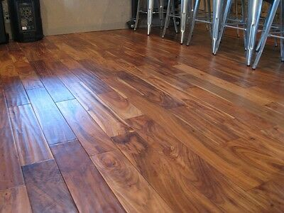 "5""  Acacia Walnut Handscraped Hardwood Wood Flooring Floor Sample"