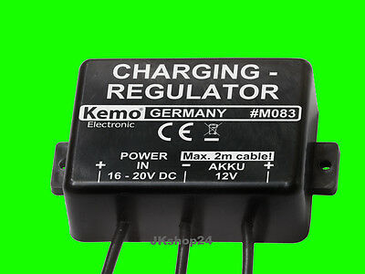 NEU! AKKU-LADEREGLER 12V/DC Charging-regulator 12 Volt Lade-Regler in:16-20 V