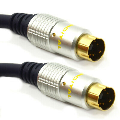 3m PURE OFC SVHS/S-Video 4 pin Cable Gold HQ TV PC Lead