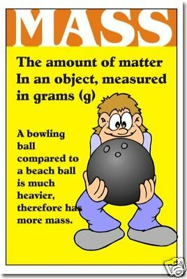 Mass - Science Measurement POSTER