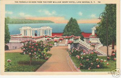 PERGOLA FROM FORT WILLIAM HENRY HOTEL, LAKE GEORGE, N.Y