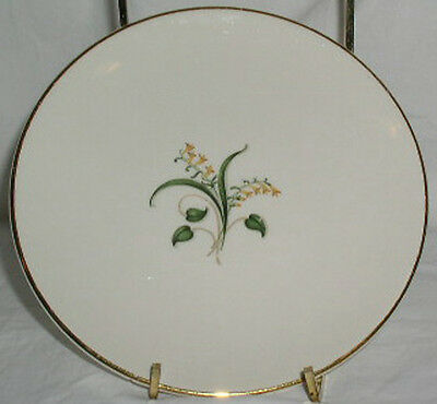 """Knowles Forsythia Bread Plate Yellow Flower Flowers Cake Plate 6-1/4"""""""