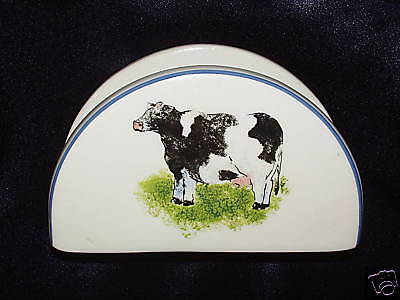 TableTops Unlimited Country Barn Cow Napkin Holder