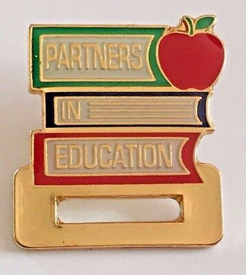 """PARTNERS IN EDUCATION"" Pins, Wholesale lot of 25, NEW!"