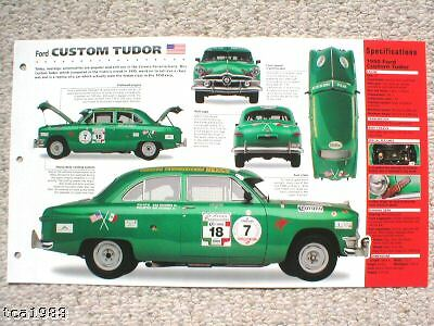 1950 FORD CUSTOM TUDOR Carrera-PanAmericana SPEC SHEET