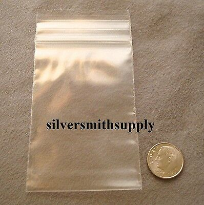 2x3 Zip Lock re-closeable bags 100 2ml jewelry displays