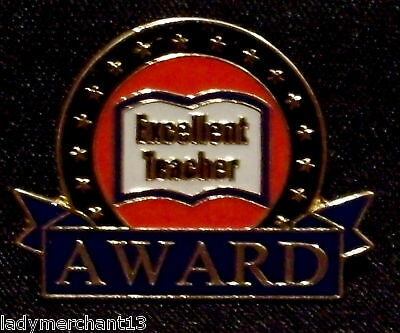 """""Excellent Teacher AWARD"" Lapel Pins, Lot of 25 NEW!"