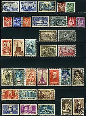 France 1939 Complete Year    Mint Nh