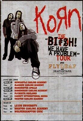 KORN TOUR POSTER Rare Hot New 24x36