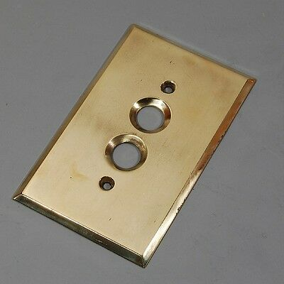 Vintage Polished Brass Electrical Outlet Plate