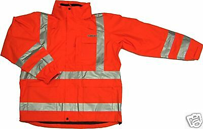 ANSI CLASS 3 SAFETY 3-in-1 JACKET ORANGE 28-5956 2XL