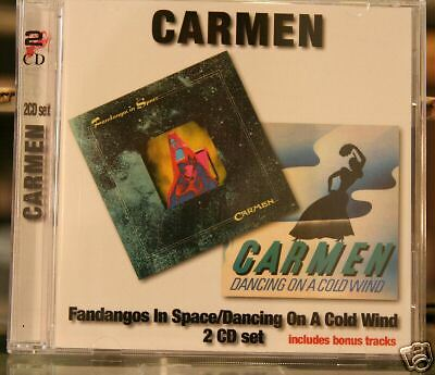 Carmen-Fandangos In Space/Dancing on a Cold Wind UK prog 2cds