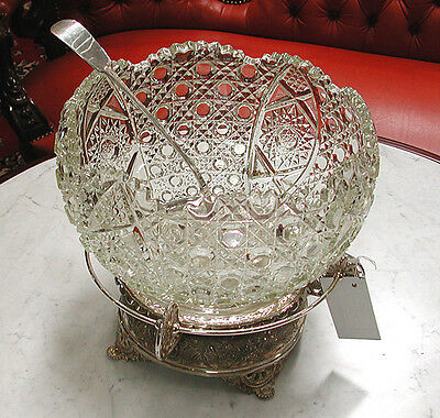 American Victorian Glass Punch Bowl #6289