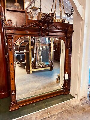 """Antique Walnut Wall/Mantle Mirror with 2"""" Bevel #3703"""