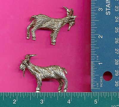 4 wholesale lead free pewter goat figurines E5147