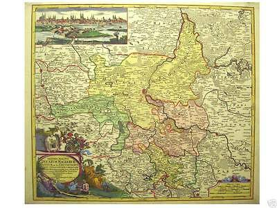 Orig oldcol coppermap Homann MAGDEBURG Saxoniae Tractus
