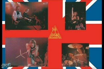 DEF LEPPARD POSTER Live on Stage Collage RARE HOT NEW