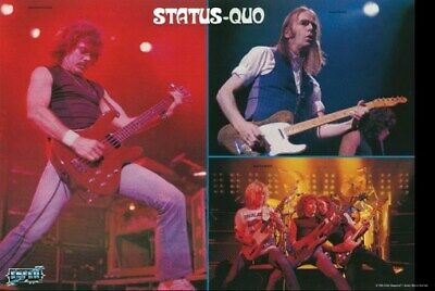 STATUS QUO POSTER Live on Stage Collage RARE HOT NEW