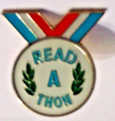 """READ A THON"" Lapel Pins, Wholesale Lot of 25, NEW!"
