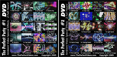 Light Show Special Effect Party DVD Combo Set Colorful Ambient Computer Graphics