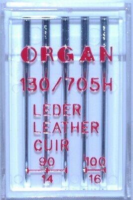 Organ Leather Sewing Machine Needles 130/705H - Mixed Size 90-100 pkt  5- BLB128