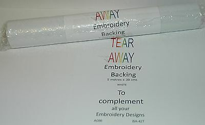 Starlite Tear Away Embroidery Backing Stabiliser 30cms x 5 metres - A086