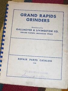 Grand Rapids No 26 Surface Grinder Parts Catalog/Manual