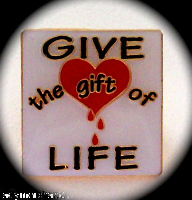 """GIVE the gift of LIFE"" Lapel Pins, Lot of 20! NIB"