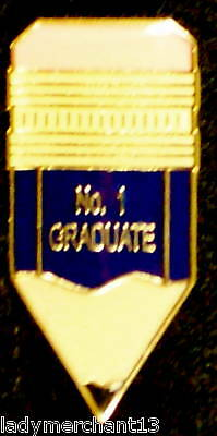 """# 1 GRADUATE"" Enamel Pencil Lapel Pins, Lot of 25/NIB"