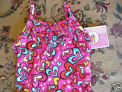 *NWT* Toddler Girls Circo Swimsuit One-Piece 12mos PINK HEARTS