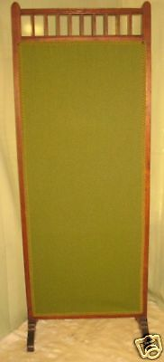 Antique Victorian Dressing Fireplace Divider Screen