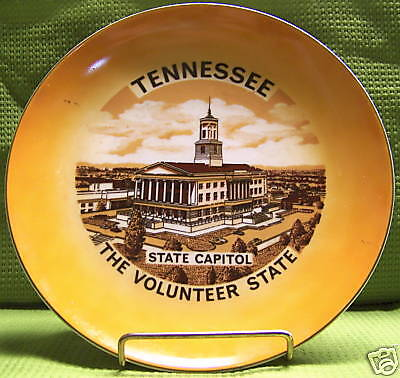"Tennessee"" The Volunteer State"" Souvenir Plate"