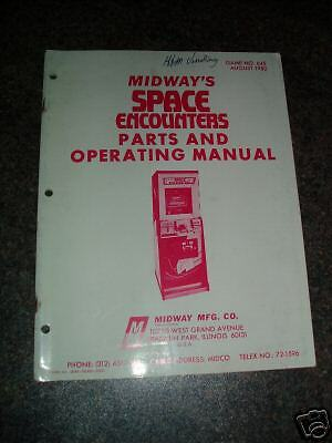 Original*midway Space Encounters *parts Manual*1980*