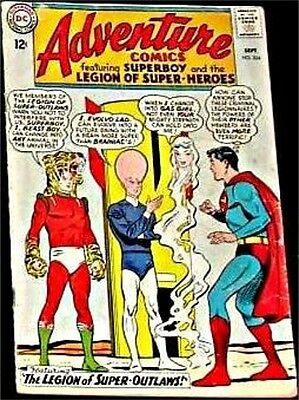 Adventure Comics 324 F/f- Superman Rare 1938 Series