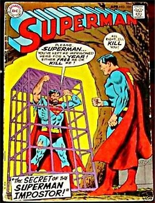 SUPERMAN 225 VG+ 1939 1st DC SERIES RARE 1970 ISSUE