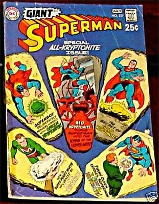 SUPERMAN 227 VG 1939 1st DC SERIES RARE 1970 GIANT SIZE