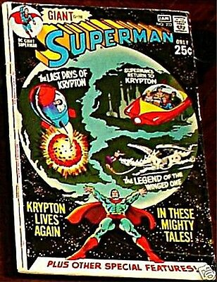 SUPERMAN 232 VG- 1939 1st DC SERIES RARE GIANT SIZE