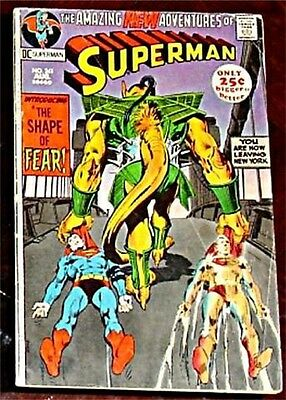 SUPERMAN 241 VG+/F- 1939 1st DC SERIES RARE 1971 52 PAGES GIANT SIZE