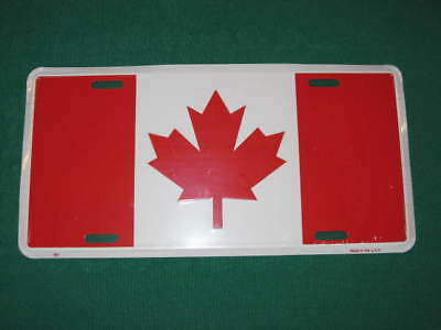 Canada Flag Metal License Plate Canadian Sign L008