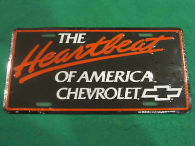 Chevrolet Metal License Plate Chevy Heartbeat Sign L101
