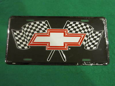 Chevy Flags Metal License Plate Chevrolet Flag Sign L95