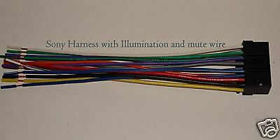 sony wire harness illumination mute xplod cdx mp70 sni • 7 99 sony wire harness illumination mute xplod cdx mp70 sni