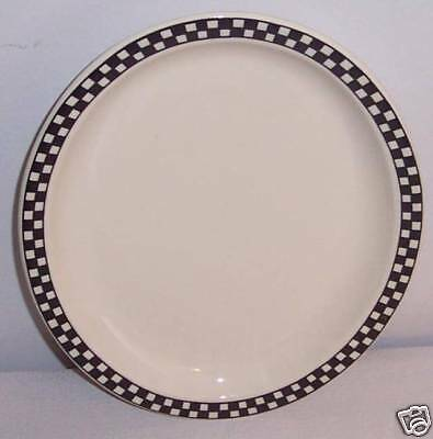 Checkers-Black by Homer Laughlin Small Meat Platter